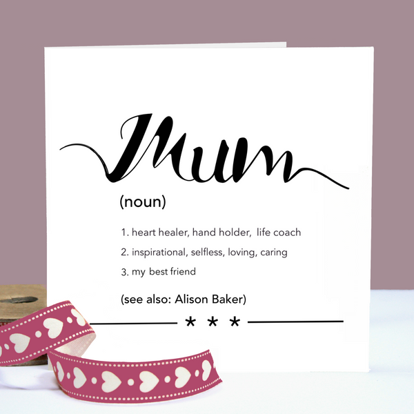 Mum Definition Personalised Card