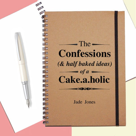 Personalised Cakeaholic Notebook
