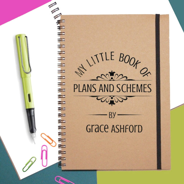 Plans & Schemes Personalised Notebook