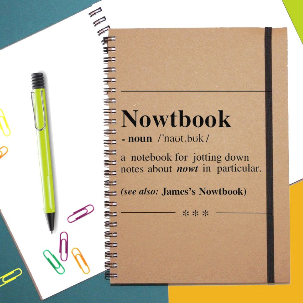 Personalised 'Nowtbook' Notebook