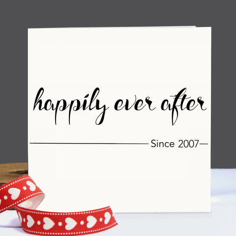 Personalised Happily Ever After Card