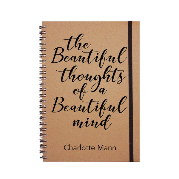 The Beautiful Thoughts of a Beautiful Mind Personalised Notebook