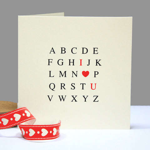 Alphabet 'I Love You' Card