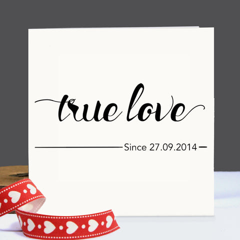 True Love Personalised Card