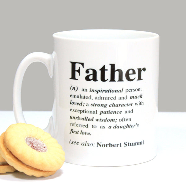 Personalised 'Father' Definition Mug|Dad Gift|Fathers Day Gift