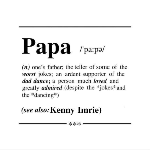 Personalised Papa Definition Card