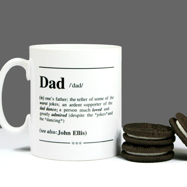 Personalised 'Dad' Definition Mug