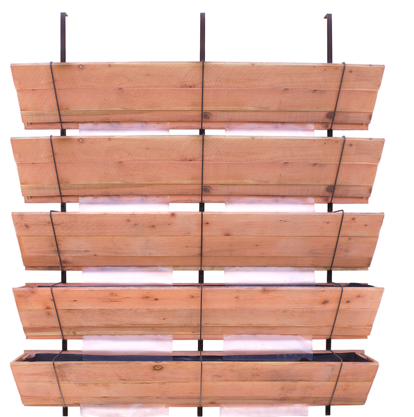 Cedar Wood Five Tier Planter