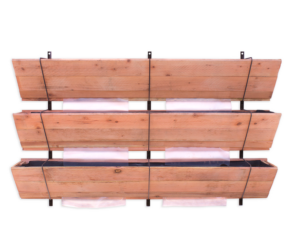 Cedar Wood Three Tier Planter