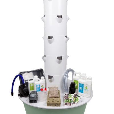Vertical Growing Tower Garden with 20 Pods, Pump & Nutrients