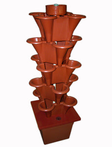 Hydroponic grow tower red