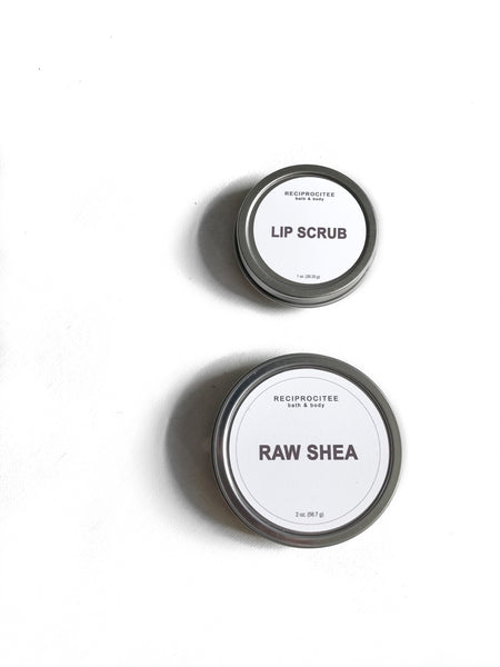 Lip Scrub + Raw Shea