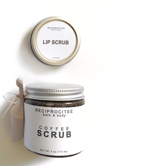 Reciprocitee body scrub + lip scrub set
