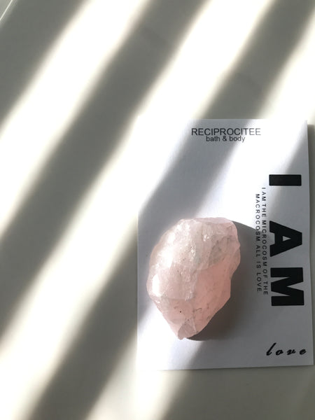 Rose Quartz (w/ affirmation)