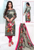Multicolor Synthetic Crepe Printed Unstitched Dress Material