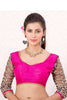 Pink Black Banglori Silk Stitched Blouse With Embroidered Stone Work