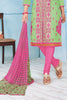 Green Pink Pure Cotton Embroidered Semistitched Salwar Suit