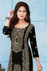 Black Beige Pure Cotton Embroidered Semistitched Salwar Suit