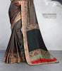 Multicolor Cotton Silk Printed Lace Border Saree With Blouse Fabric