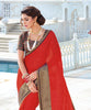Copy of Beige Chiffon Printed Lace Border Saree With Blouse Fabric