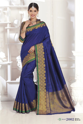 Silk Zari Work Wedding Wear Saree With Blouse Fabric