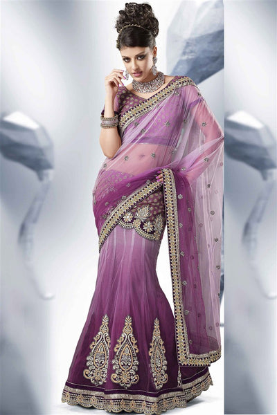 Pink Jacquard Heavy Embroidered Semi Stitched Lehenga Choli