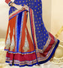 Multicolor Georgette Heavy Embroidered Semi Stitched Lehenga Choli