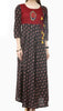 Black Cotton Printed Party Wear Kurti