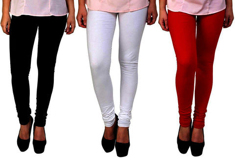 Combo of 3 Premium 4-Way Stretchable Lycra Leggings