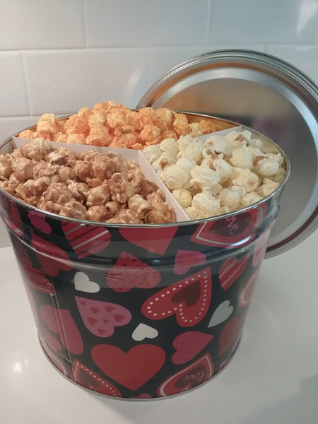 Popcorn Tins - SHIPPED..............3 Pack Of Fall Flavors