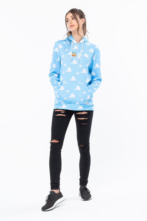 HYPE TOY STORY BLUE CLOUDS MEN'S PULLOVER HOODIE