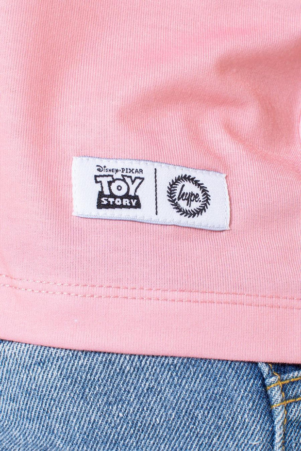 HYPE TOY STORY PINK COWGIRL KIDS CROP T-SHIRT