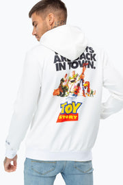 HYPE TOY STORY WHITE POSTER BACK PRINT MEN'S PULLOVER HOODIE