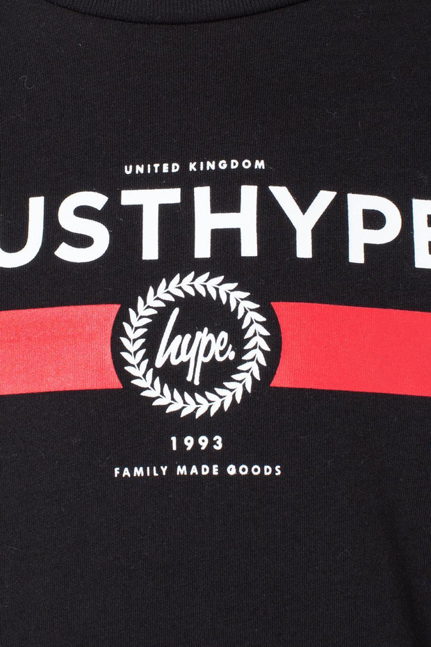 HYPE BLACK RED LINE KIDS T-SHIRT