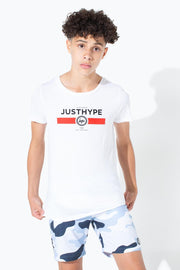 HYPE WHITE RED LINE KIDS T-SHIRT