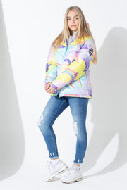 HYPE RAINBOW UNICORN KIDS PUFFER JACKET
