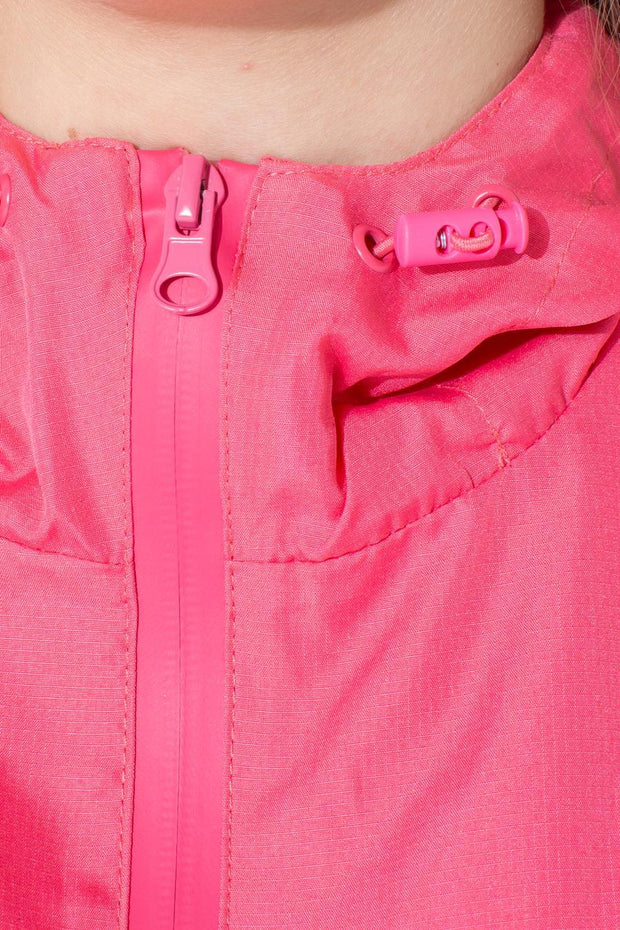HYPE PINK SCRIPT KIDS RUNNING JACKET
