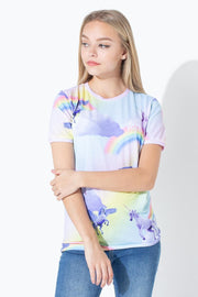 HYPE RAINBOW UNICORN KIDS T-SHIRT