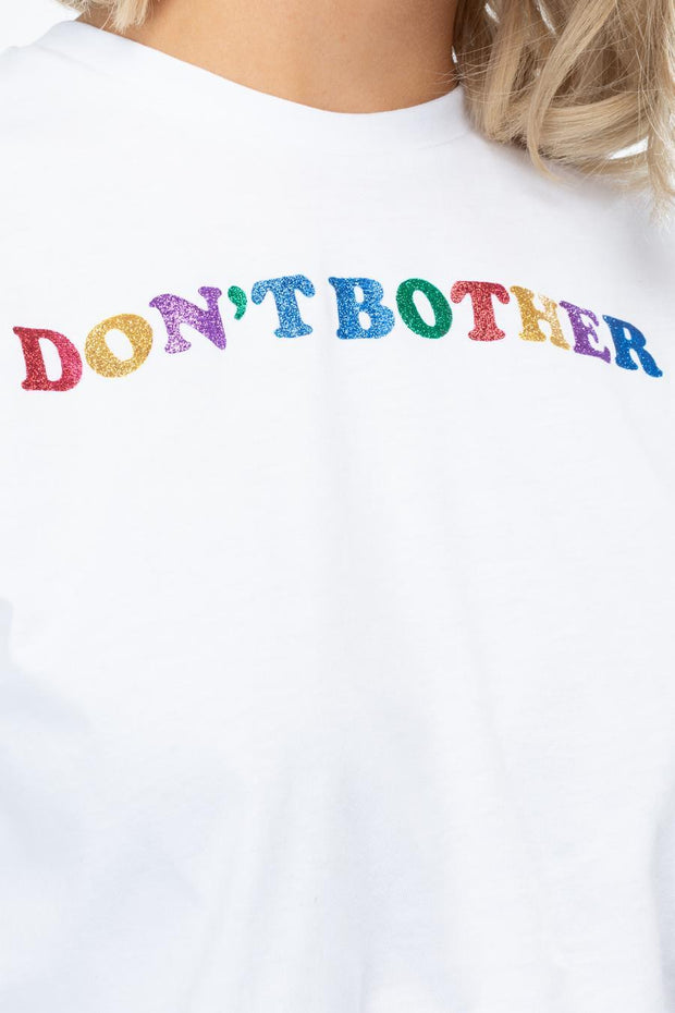 HYPE DON'T BOTHER WOMEN'S CROP T-SHIRT