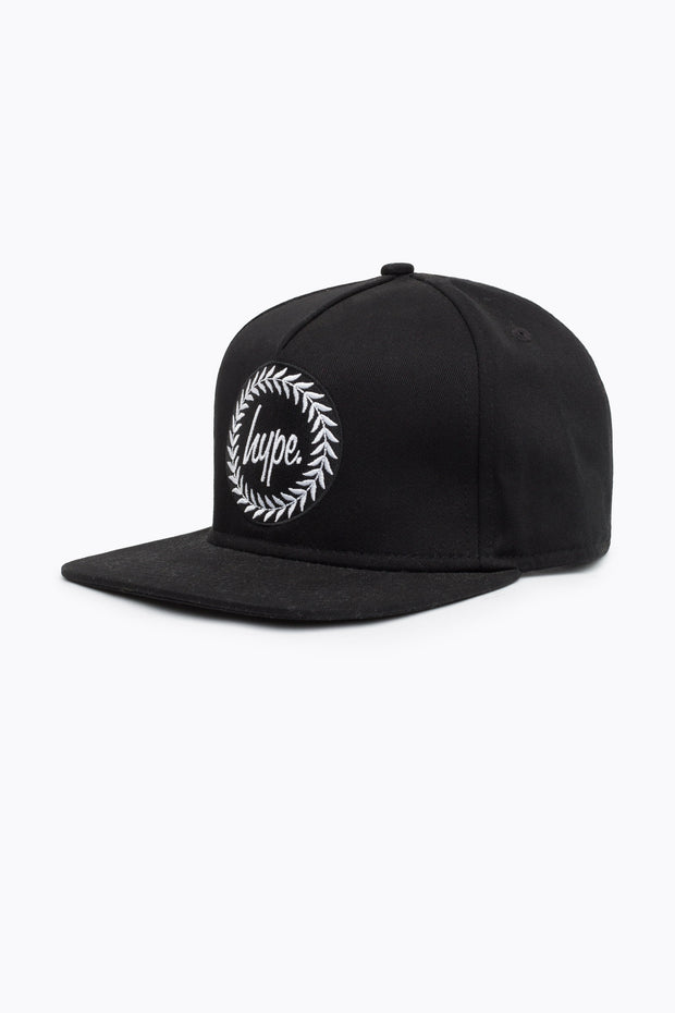 Hype Black Reflective Crest Trucker Hat