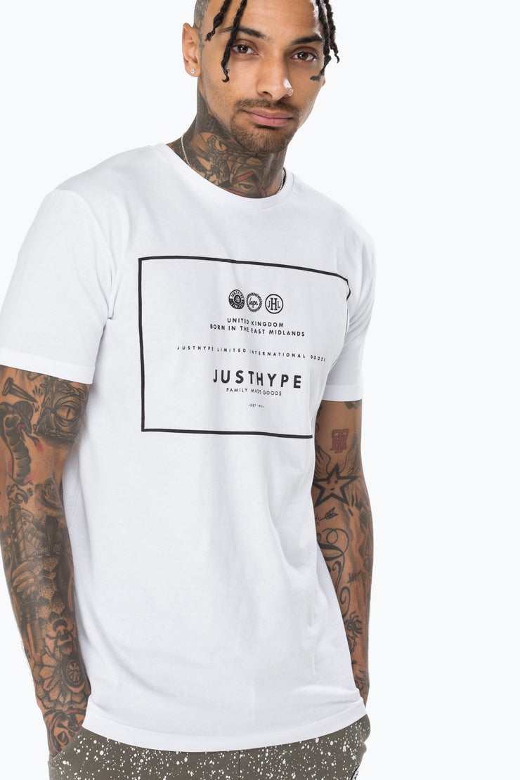 Hype White/Black Royal Men's T-Shirt