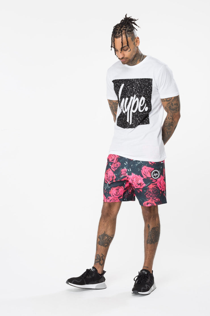 Hype White/Black Speckle Square Men's T-Shirt