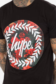 Hype Black Roses Circle Men's T-Shirt