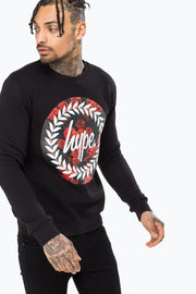 Hype Black Rose Circle Men's Crewneck