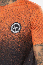 Hype Orange/Black Speckle Fade Men's T-Shirt
