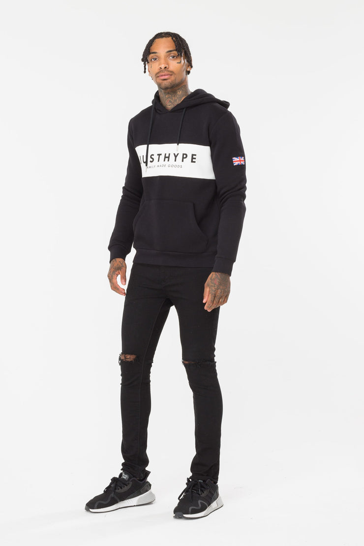 Hype Black/White Britain Men's Pullover Hoodie