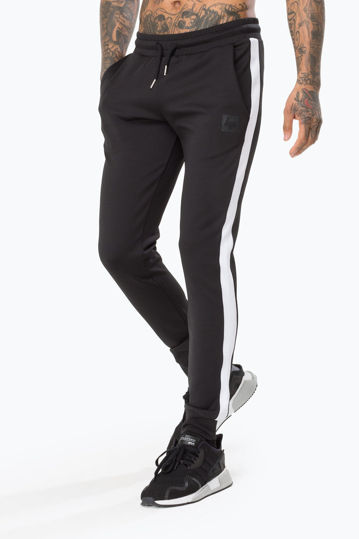 Hype Black Poly Stripe Men's Joggers