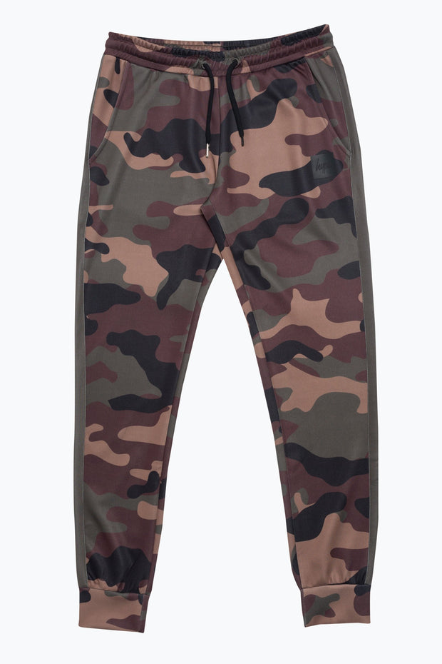 Hype Khaki Camo Poly Stripe Men's Joggers