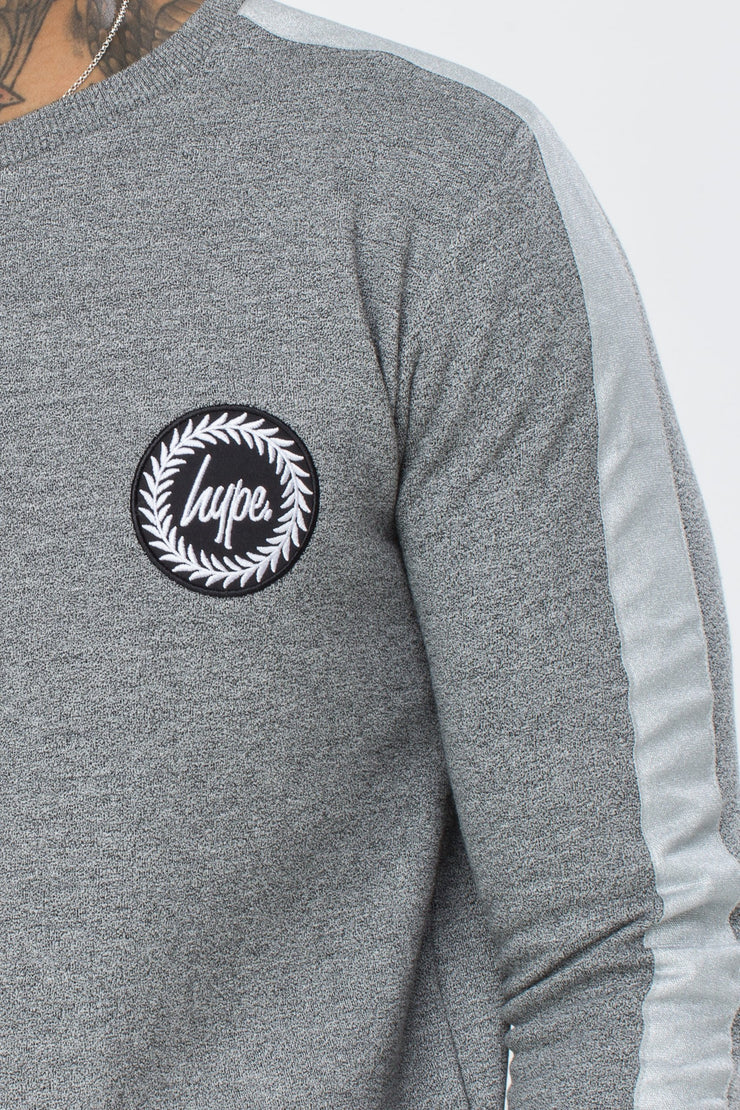 Hype Grey Stripe Crest Men's Crewneck