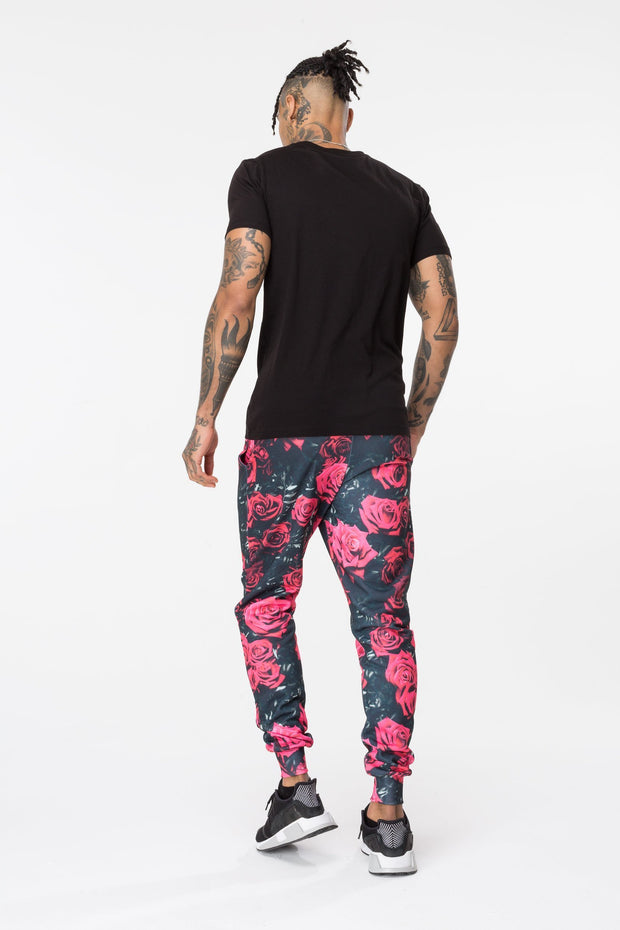 Hype Black/Red Roses Men's Joggers